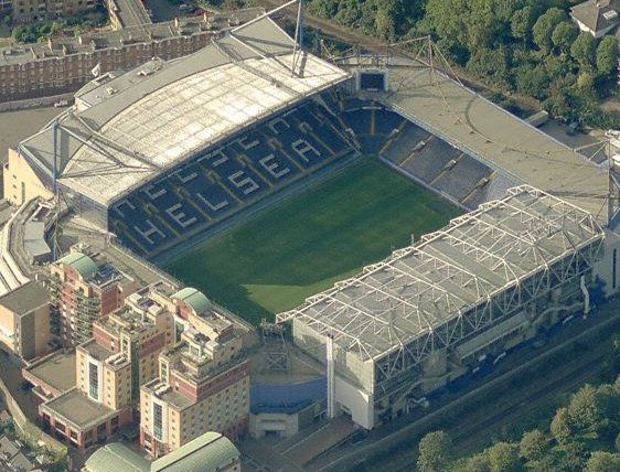 Stamford Bridge, home of the mighty Chelsea FC!