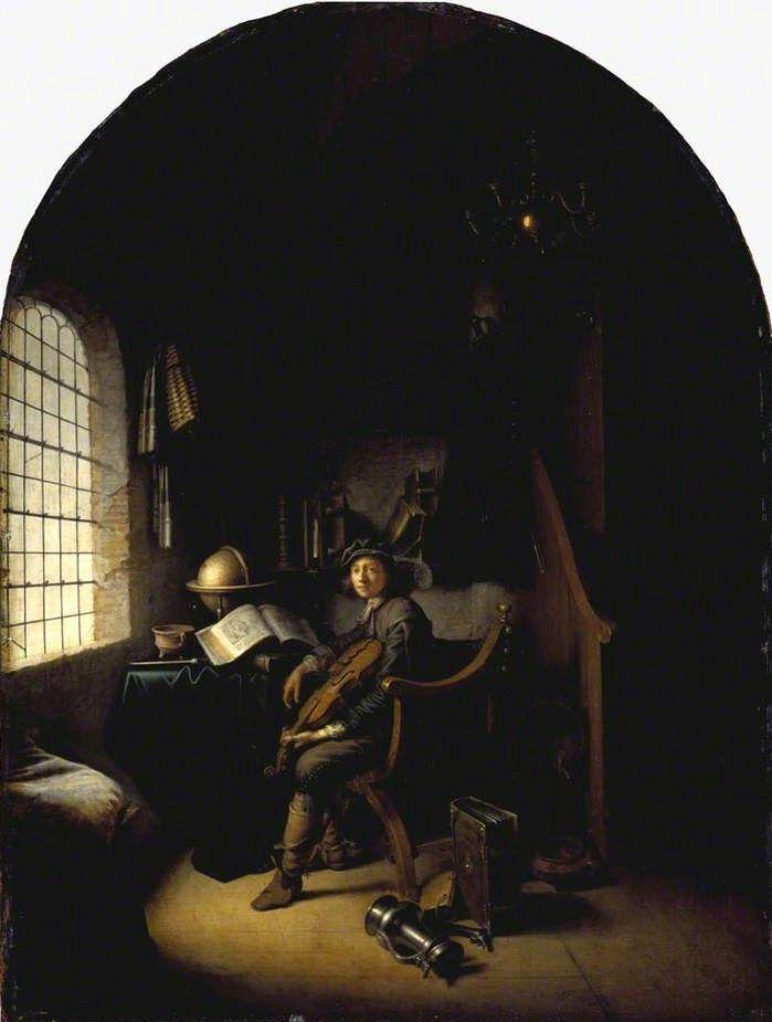 Εσωτερικό με νεαρό βιολονίστα (1637) Εθνική Πινακοθήκη Σκοτίας στο Εδιμβούργο