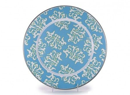 Blue Damask Charger BK26
