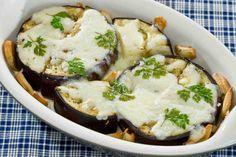 Zapiekane bakłażany pod serem z białym winem #smacznastrona #przepisytesco #bakłażan #białewino #mozarella #pycha