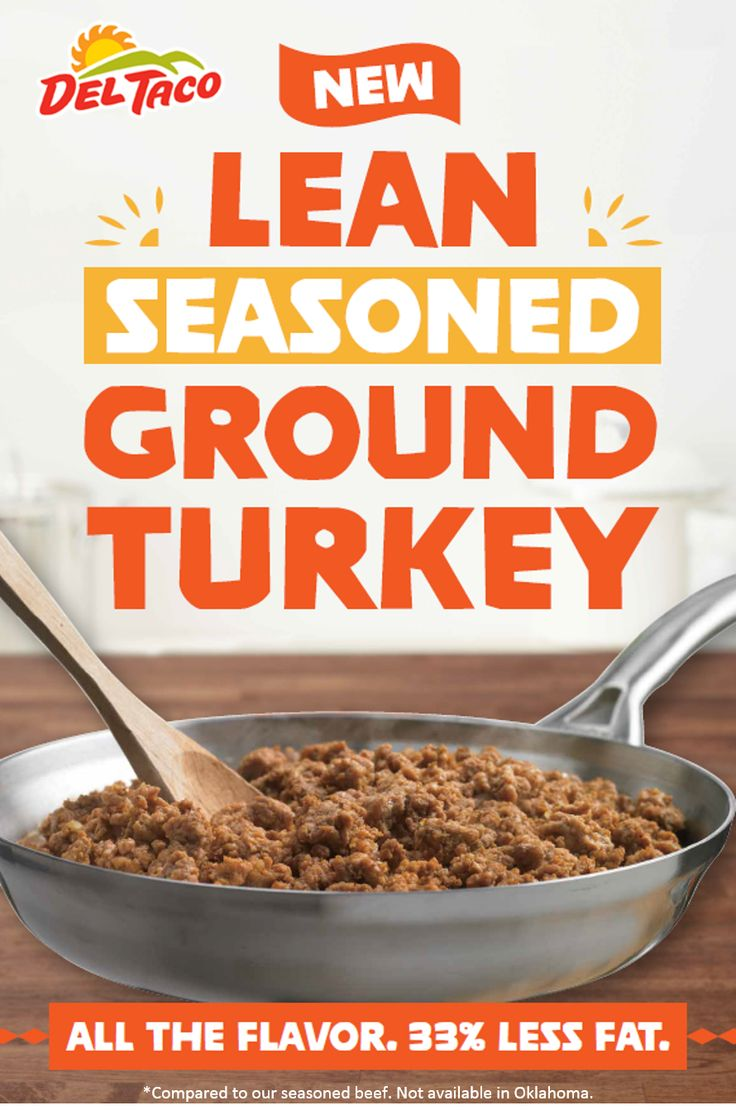 Enjoy lean, seasoned ground turkey at Del Taco. #NewYearsResolution