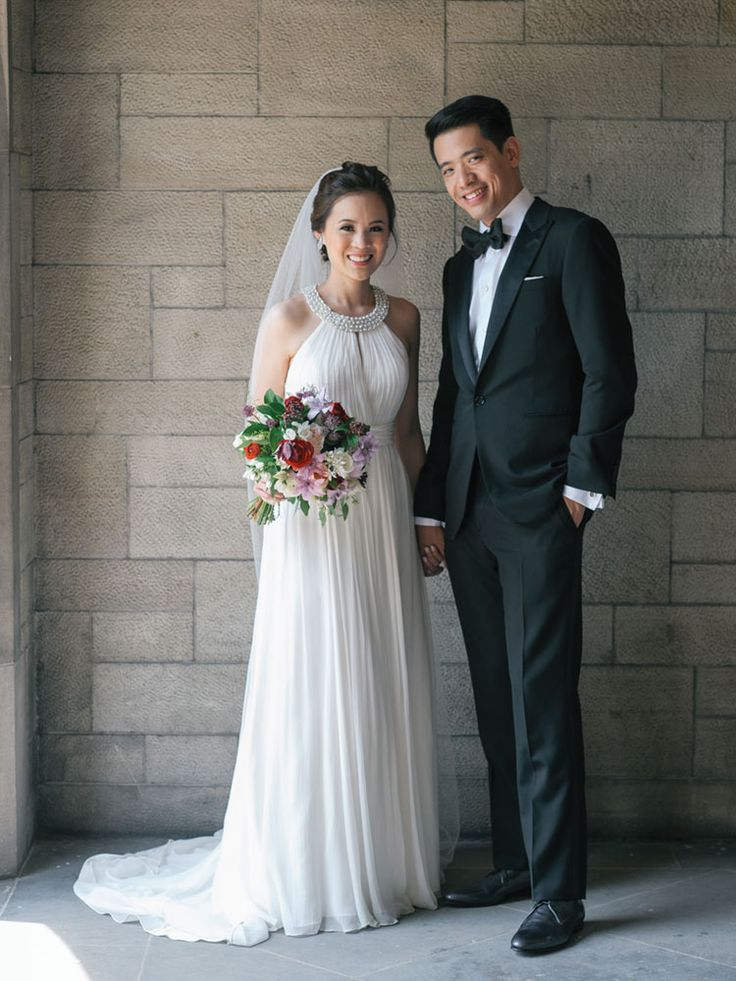 A Classic Paris-Inspired Wedding at the University of Toronto - Bride and Groom