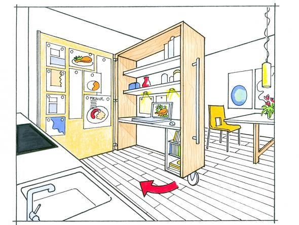 46 best Kleine Räume images on Pinterest Corner cupboard, Craft - kleine küche gebraucht