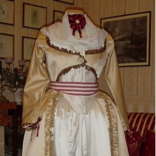 Robe a l'anglaise Abito storico 1780 -1790