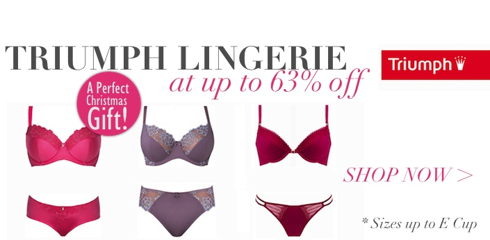 Crazy about Diligo's flash sales? Love beautiful lingerie? You'll be glad to know the online store's teamed up with Triumph this week.