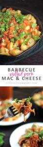 Barbecue Pulled Pork White Cheddar Mac and Cheese | Switch up your macaroni and cheese game with this easy white cheddar cheese sauce and slow cooker pulled pork.