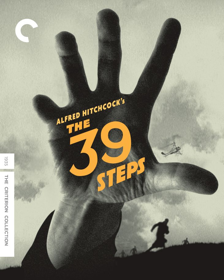 Designing a new cover for Criterion's re-release of Alfred Hitchcock's The 39 Steps.