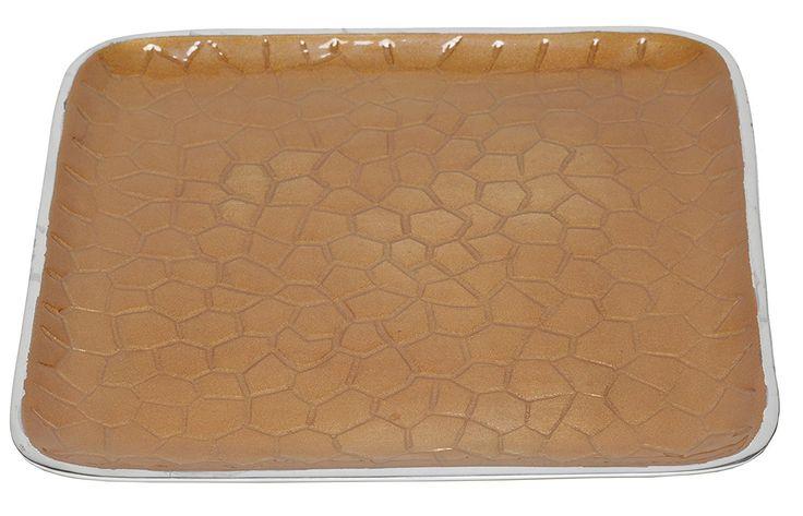 "Artisan d'Orient Classic 8"" Square Tray, Color - Orange"