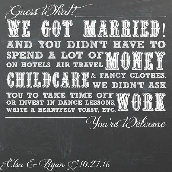 Elopement Announcement Card Wedding Announcements: 25+ Best Funny Wedding Announcements Ideas On Pinterest