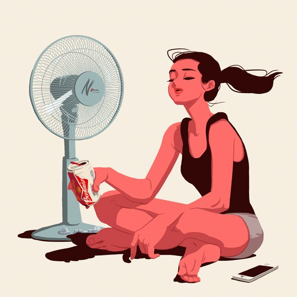Summer weekend by Jungyoun Kim, via Behance