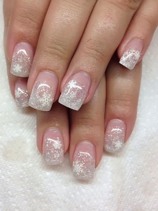 acrylic backfill-glitz French- LED polish Xmas design- Gel-Nails-Polish-LED-Polish-LED-Nails-Acrylic-Nails-Nail-Art