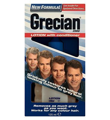 Grecian 2000 Mens Hair Colour Lotion 10007433 20 Advantage card points. Sweep away the years with Grecian 2000 Lotion. This practically clear liquid is specially developed to work with the hairs natural chemistry and gradually bring natural looki http://www.MightGet.com/february-2017-1/grecian-2000-mens-hair-colour-lotion-10007433.asp
