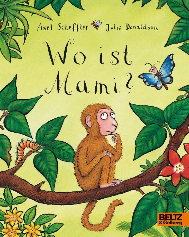 Wo ist Mami  Der kleine Affe hat seine Mama verloren. Er sucht sie ganz verzweifelt. Im Dschungel trifft er auf einen Schmetterling, der dem kleinen Äffchen helfen möchte. Leider weiß der Schmetterling nicht, wie Affeneltern aussehen. Er bittet das Affenkind seine Mami zu beschreiben, damit er eine Vorstellung hat. Daraufhin machen sich die beiden gemeinsam auf die Suche nach der Affenmutter. Doch dabei geht so einiges schief…