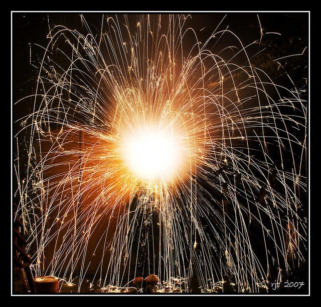 Bonfire Night Catherine Wheel fireworks