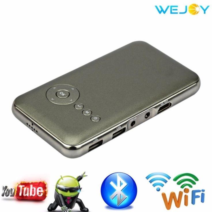 คุณภาพดีWejoy HD Movie Wifi Projector 1080p Full HD DL-S6+ 1G/16G - intl++Wejoy HD Movie Wifi Projector 1080p Full HD DL-S6+ 1G/16G - intl Wifi Portable Projector Genuine& User friendly Ultra-bright High Quality LED Lamp Android 4.4 With WIFI and Bluetooth 1G run  ...