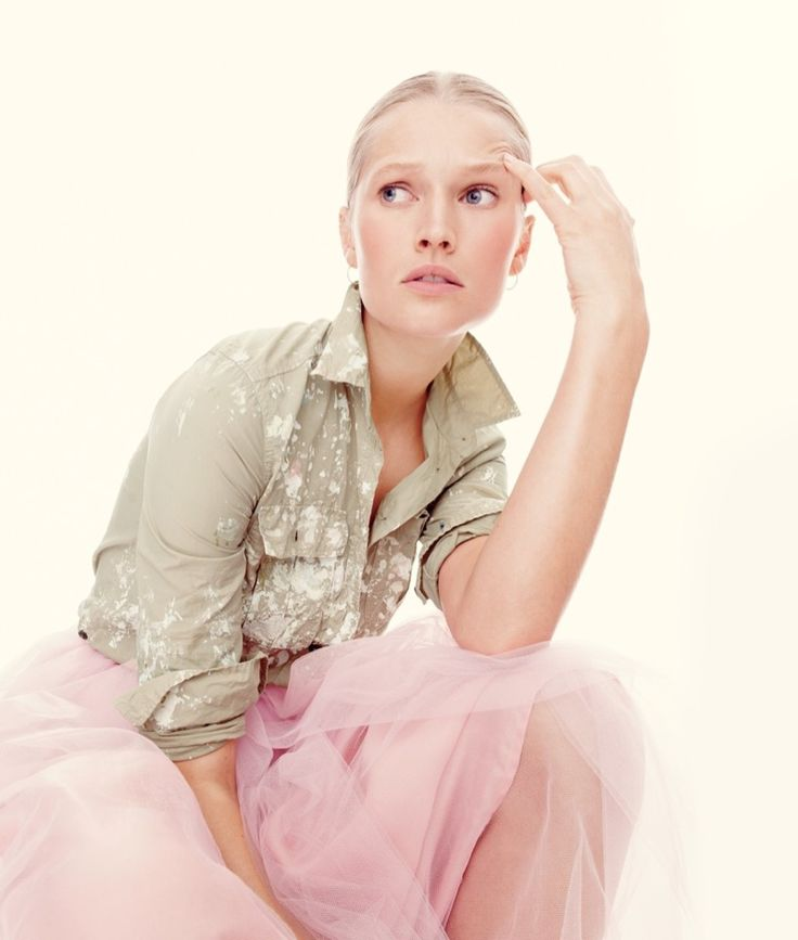 J. Crew Limited-Edition Fatigue Shirt in Paint Splatter and Tulle Ball Skirt
