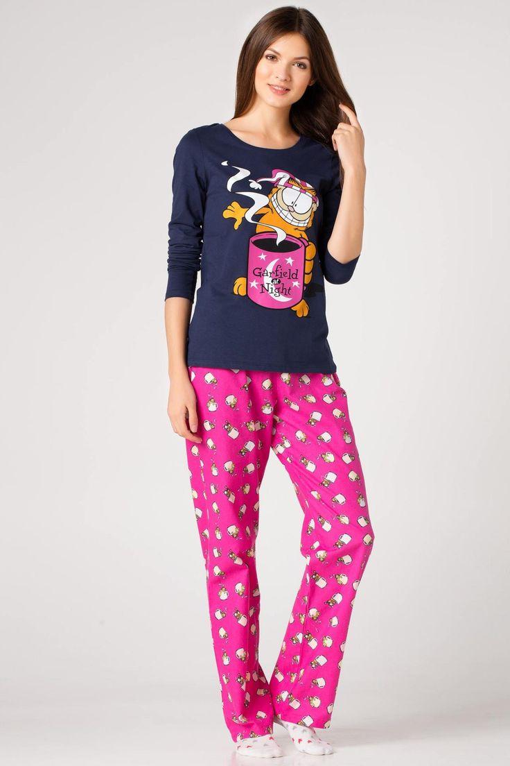Pembe Kadın Garfield Baskılı Pijama Takımı 367227 | DeFacto