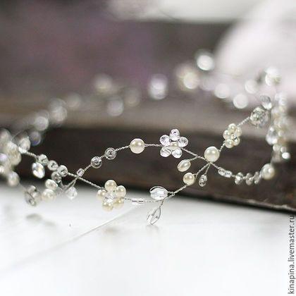 Свадебные украшения ручной работы. Ярмарка Мастеров - ручная работа. Купить Свадебный венок для прически невесты. Венок на голову невесте.. Handmade.