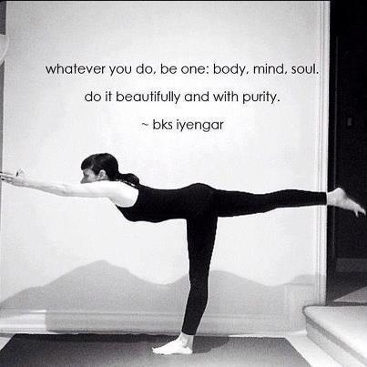whatever you do be one body mind soul bks iyengar