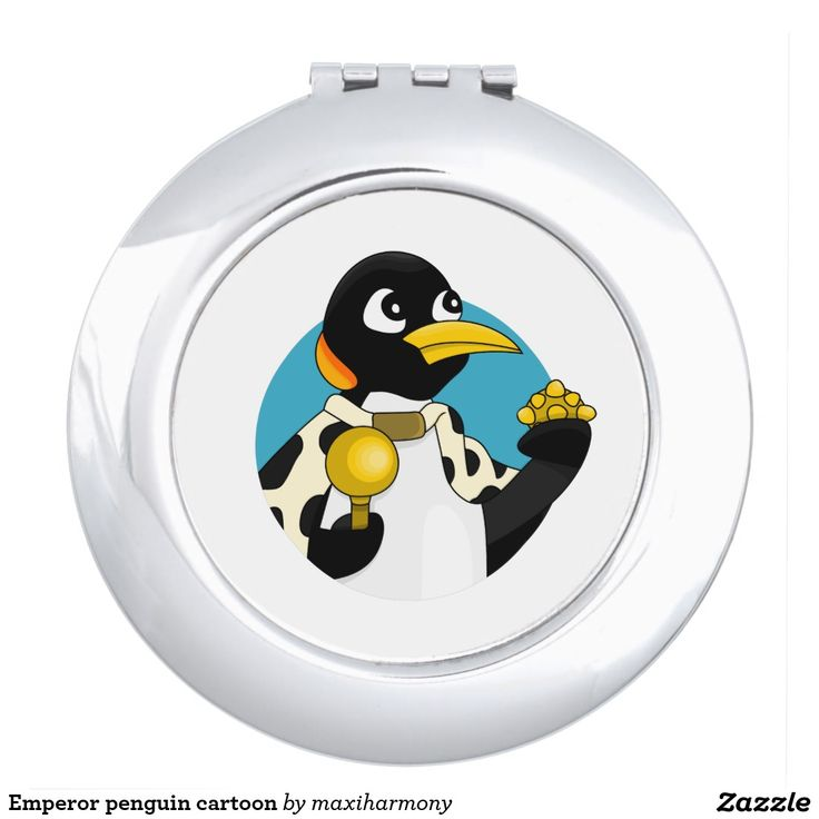 Emperor penguin cartoon compact mirror