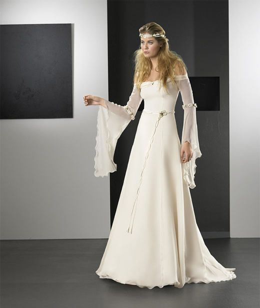 Vestido de novia medieval  Virtual Novia Book