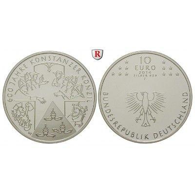 Bundesrepublik Deutschland, 10 Euro 2014, 600 Jahre Konzil von Konstanz, F, PP: 10 Euro 2014 F. 600 Jahre Konzil von Konstanz.… #coins