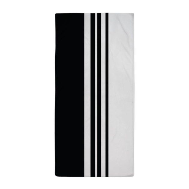 Stylish Black and white modern striped and halves design