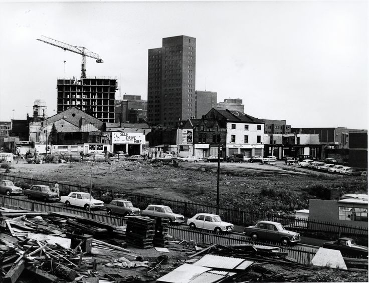 This photograph shows Dalton Tower on Aston University campus under construction some time in the early #1970s (the building was complete by 1975). The tower - which was one of three providing student accommodation - was demolished on May 8th 2011. Watch a YouTube video on the rise and fall of Lawrence and Dalton Towers here: http://www.youtube.com/watch?v=PRoUDWtQm_I