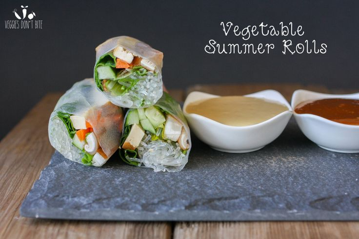 The taste of summer. Fresh, crisp and flavorful ingredients take center stage in this easy to make summer roll.