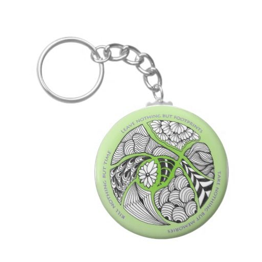 Environmental Mantra for Hikers & Mountain Climber Key Chain