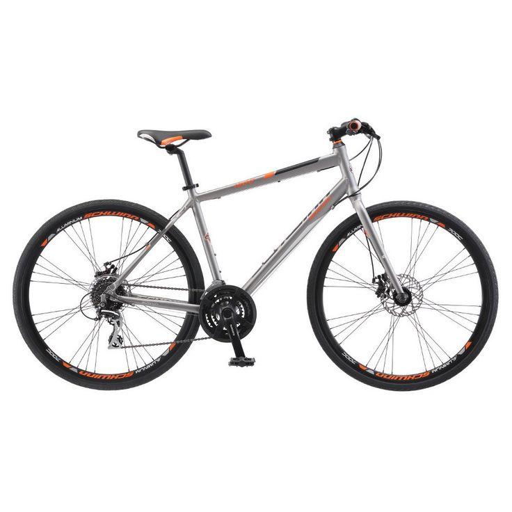 Schwinn Men's Phocus 1500 28 Flat Bar Road Bike - Gray, Grey