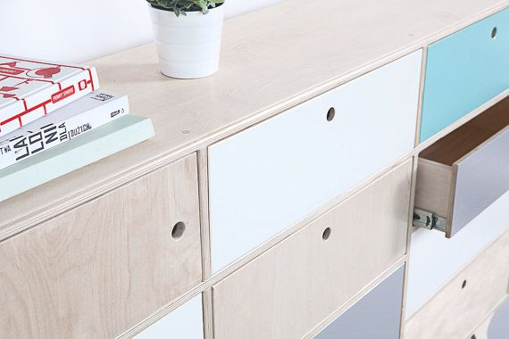 BLISS.1 a plywood, scandinavian chest of drawers / cupboard / cabinet. * designed by Wood Republic BLISS.1 was created to deliver pure happiness from using a piece of furniture. It is an effect of total lack of limits in designing the product. BLISS chest of drawers is a mixture of