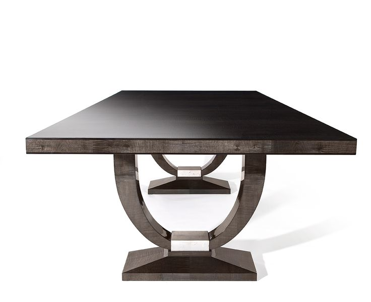 DAVIDSON London – The Katya Table in Sycamore Black and Silver Leaf