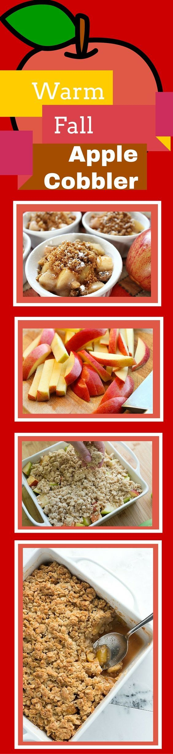 This clean Apple Cobbler dessert recipe will come in handy for apple picking season this Fall! All the yummy gooey goodness but no white sugar, gluten free and oh so good! Oh and your house will smell DELICIOUS too!