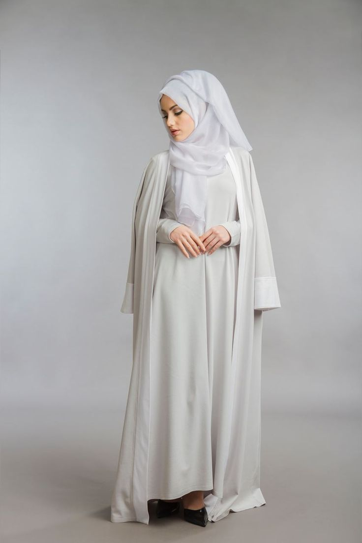 Parduh - Modest Clothing | Abayas Hoody Scarf. Product Reviews. Grey Abaya Set. Grey Abaya Set