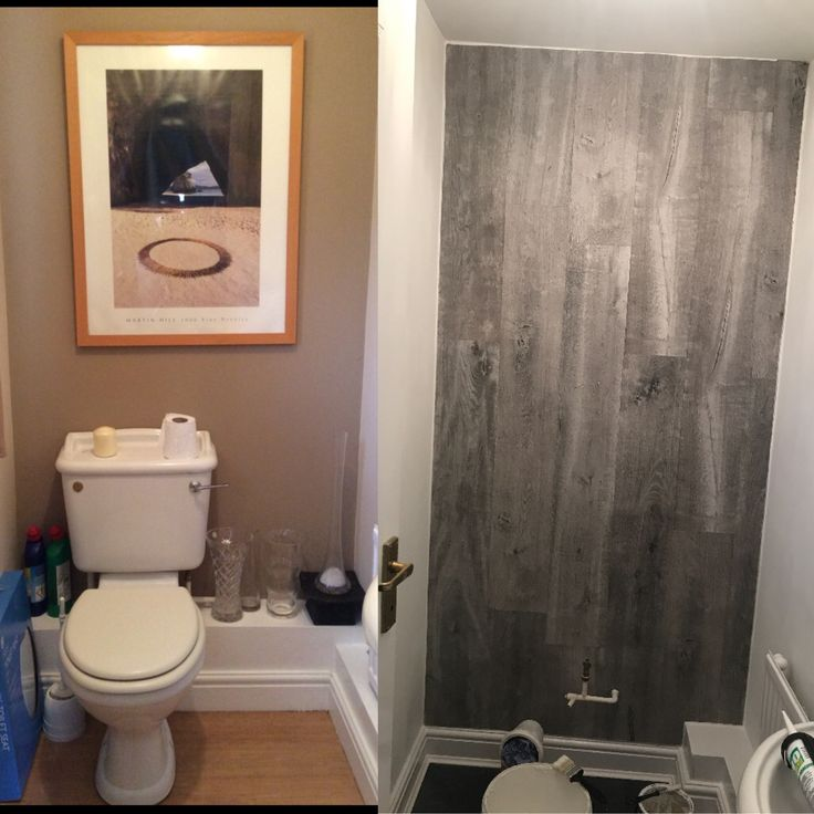 downstairs toilet adding laminate flooring to a wall for wood effect flooring from bq - Fantastisch Kochinseln