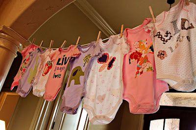 DIY Onesie Party {Hosting a Baby Shower} via TipJunkie.com