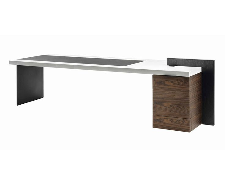 Executive desk H_O DESK LAC by Poltrona Frau design Claudio Silvestrin