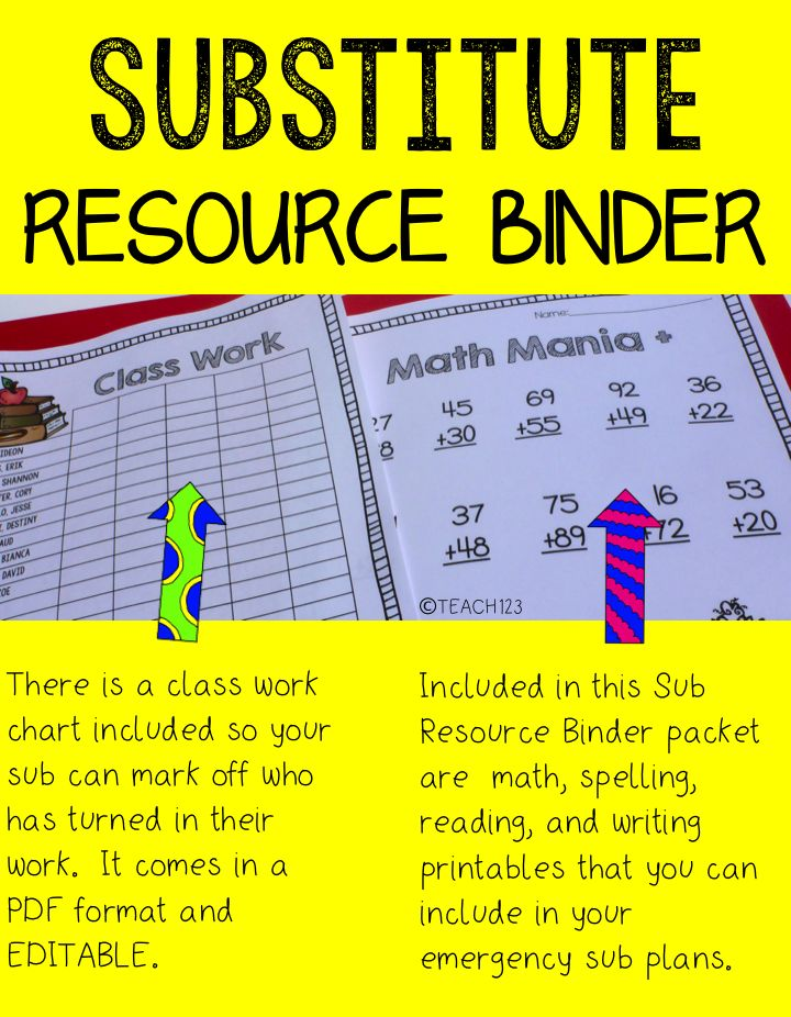 sub plans resource binder student centered resources the o 39 jays and teaching. Black Bedroom Furniture Sets. Home Design Ideas