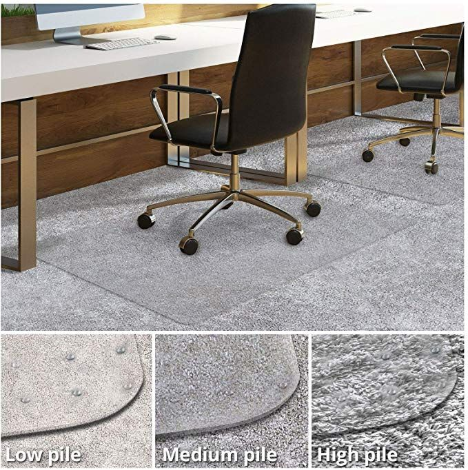 Amazon Com Office Chair Mat For Carpeted Floors Desk Chair Mat For Carpet Clear Pvc Mat In Different Thickness Office Chair Mat Desk Chair Mat Floor Desk Chair mats for high pile carpet