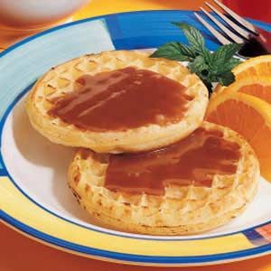 I love peanut butter and a little syrup on my pancakes/waffels. Aaron thinks it should automatically be combined...will try this when we make Belgium waffles next week