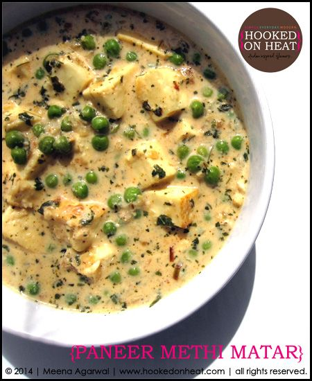 Contemplating what to cook this Diwali? Try this lip-smacking and super simple Paneer Methi Matar. Recipe here: http://www.hookedonheat.com/2014/10/15/a-simple-feast-paneer-methi-matar/  For more simple, healthy and mouth-watering recipes the whole family will love, head on over to www.hookedonheat.com  #indianfood #indiancooking #indian101