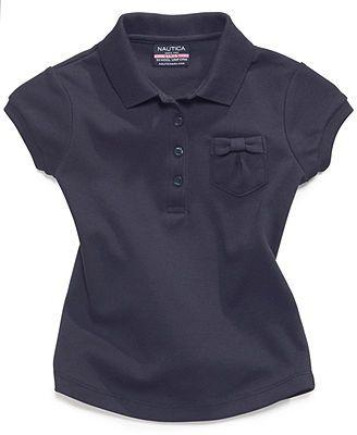 Nautica Kids Top, Little Girls Uniform Polo