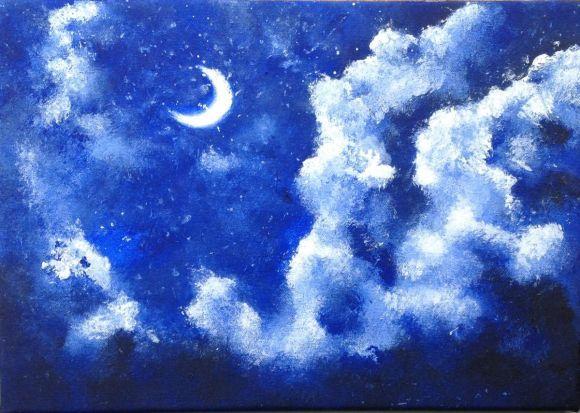 Moonlit Night Sky