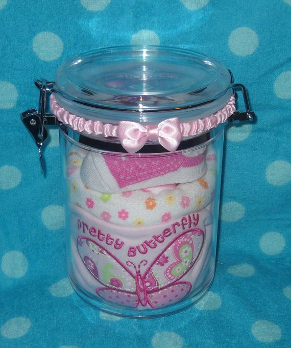 Baby Gift Jars : Unique alternative to a gift basket butterfly in