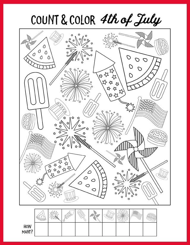 4th Of July Kids Coloring Page My Sister S Suitcase Coloring