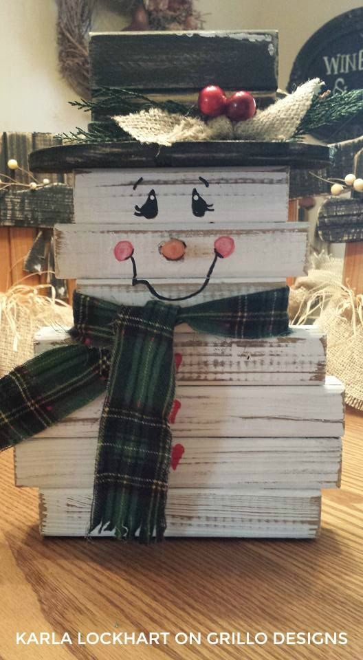 Make a cute spindle snowman!