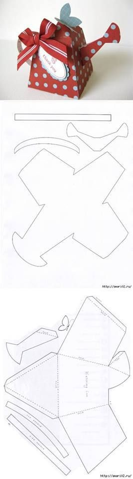 No instructions; just this template to make a paper teapot for decoration.  I will think of it as a challenge.