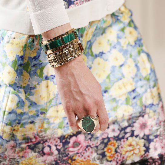 Spring/Summer 2014 trends: Jewelry Nina Ricci  GREEN, MALACHITE, GOLD - LOVE!
