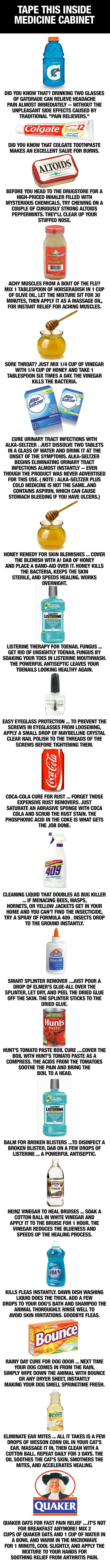 Life hacks. Awesome you can use this instead of buying expensive treatment stuff!